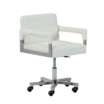 Modrest Craig Modern White Bonded Leather Office Chair