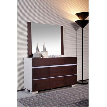 Modrest Anzio Modern Brown Oak Wall Mirror
