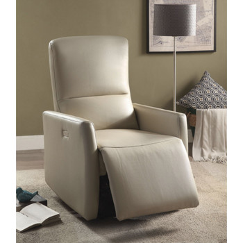 Raff Beige Leather Recliner