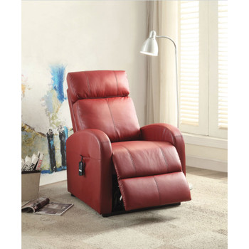 Ricardo Red Leather Recliner