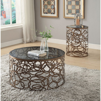 Anya Antique End Table