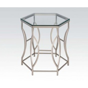 Farica Chrome End Table