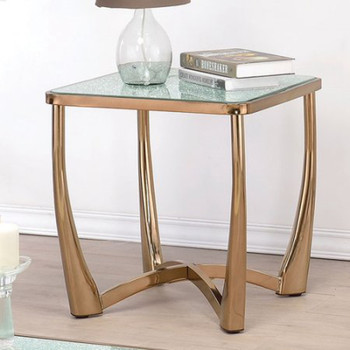 Orlando Champagne End Table