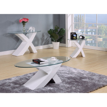 Pervis White End Table