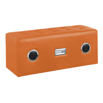 Laila Orange Leather Sound Bench