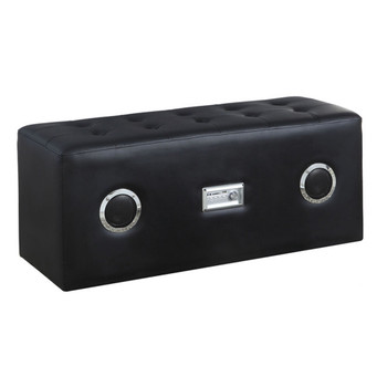 Laila Black Leather Sound Bench