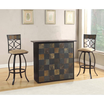 Pansy Stone Inlay Bar Table Set