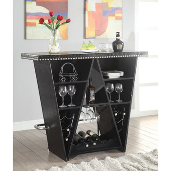 Patrick Black & Chrome Bar Table