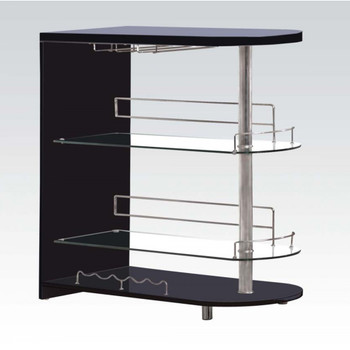Yashvin Black & Chrome Bar Table Set