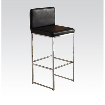 Zak Black & Chrome Bar Chair