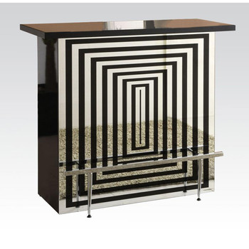 Zak Black & Chrome Bar Table Set