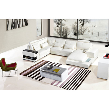 Divani Casa Diamond Modern White Bonded Leather Sectional Sofa