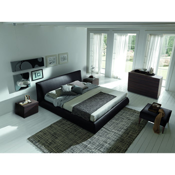Coco Brown Leatherette Bed