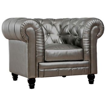 Zahara Leather Club Chair