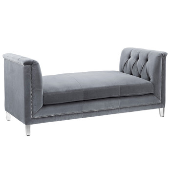 Naomi Grey Velvet Loveseat