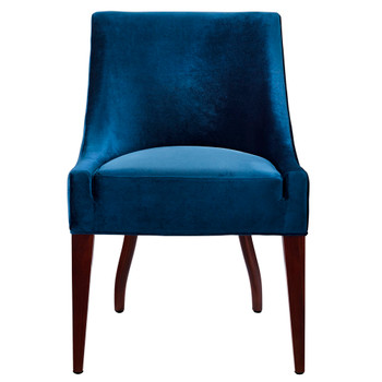 Dover Blue Velvet Chair, Set of 2