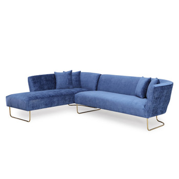Caprice Navy Velvet Sectional