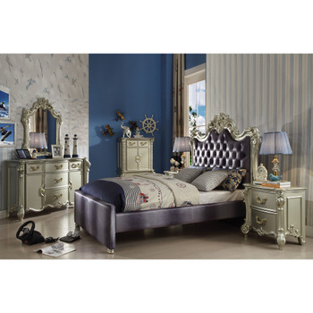 Vendome II Champagne & Fabric Bedroom Set