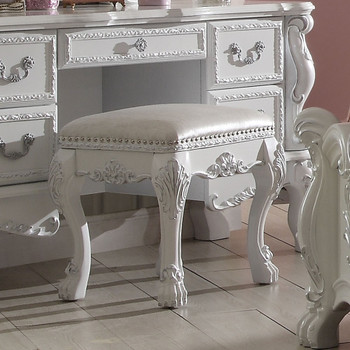 Dresden Antique White Vanity Stool