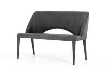 Modrest Williamette Modern Dark Grey Fabric Bench