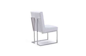 Modrest Whelan Modern White Dining Chair (Set of 2)
