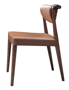 Modrest Union - Modern Brown Oak Dining Chair (Set of 2)