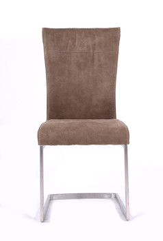 Modrest Zane - Modern Brown Fabric Dining Chair (Set of 2)