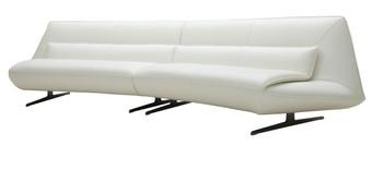 Divani Casa Beckley Modern White Leather Sofa