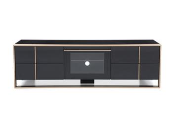 Nova Domus Cartier Modern Black & Brushed Bronze TV Stand