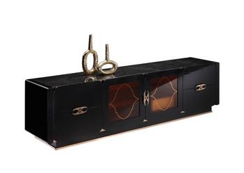 A&X Padua Modern Black TV Stand