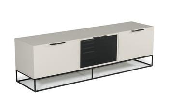 Modrest Hera Modern Grey & Black TV Stand