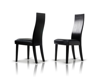 Modrest Escape - Modern Black Oak Dining Chair SET OF 2