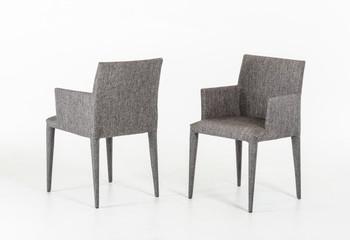 Modrest Medford Modern Grey Fabric Dining Chair