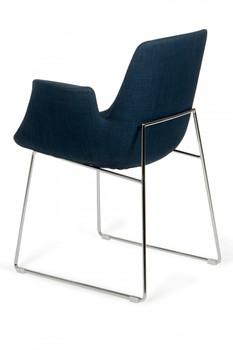 Modrest Altair Modern Blue Fabric Dining Chair