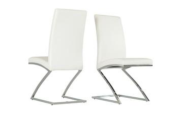 Modrest Angora Modern White Dining Chair SET OF 2