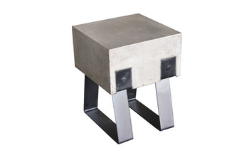 Modrest Cope Modern Concrete & Black Stool