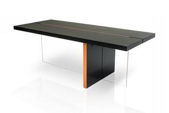 Modrest Vision - Modern Black Oak Floating Dining Table
