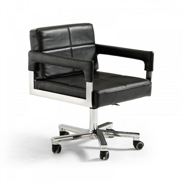 Modrest Craig Modern Black Bonded Leather Office Chair