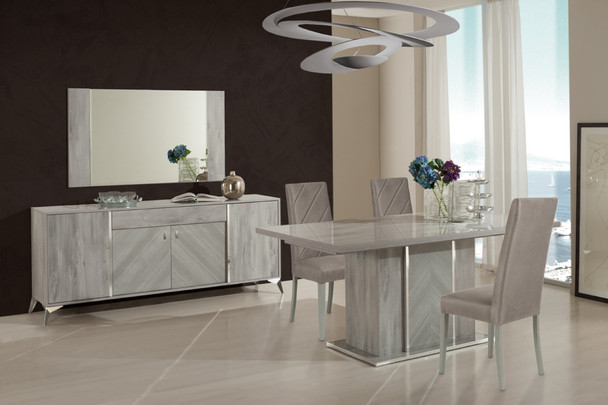 Nova Domus Alexa Italian Modern Grey Dining Table Set