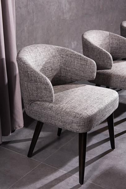 Modrest Carlton Modern Grey Fabric Dining Chair
