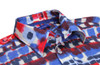 """The summer holidays are coming and what more appropriate and fun than red, white and blue ?  The fabric is our magnificent 100% imported cotton stretch.  Light weight with just enough stretch to insure your comfort before and after the summer """"bar-be-ques"""". Guaranteed to be a favorite!  100% Cotton stretch long sleeves shirt"""