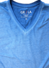 GRLA-V-5017-Royal Blue- Garment Dyed - Short-Sleeves-T-Shirt