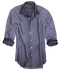 Style Trend, Georg Roth is definitely a leader in his class, as seen by this newest creation of a garment dyed shirts. An all time favorite this season is a relaxed look with layering as T-shirts are hot! Wear this shirt open as an overshirt with one of our T's and feel great. A subtle stripe with a Grey wash to go with your favorite denims or black jeans.  Regular cut. Very cool small button down collar (Georg's trend is to leave the buttons unbuttoned)  100% Cotton  Made in Peru