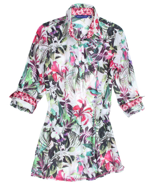 Lana B12052-703 Long Sleeves, Tunic Cotton Voile