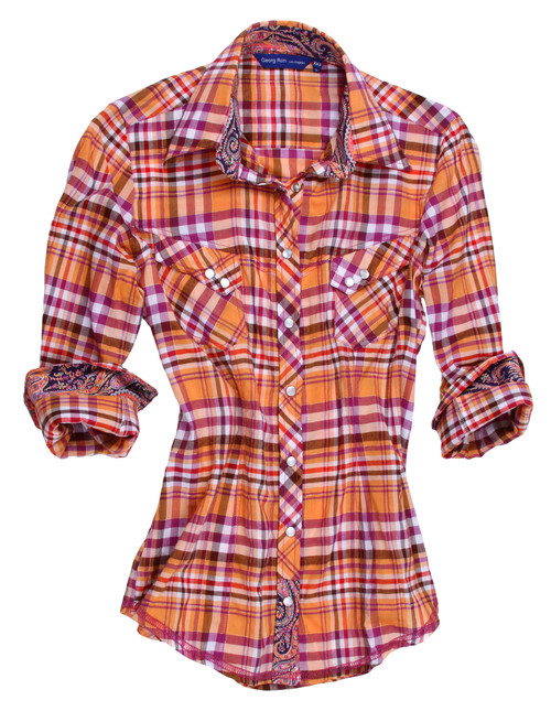 Fiona B12038-705 Contemporary Country, Long Sleeves Snaps