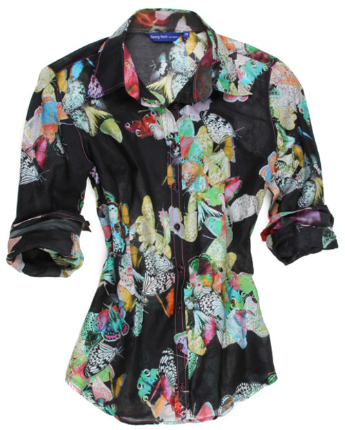 Georg Roth Women's  B12043-700 Long Sleeves (Barbara's Butterfly) Plus Sizes