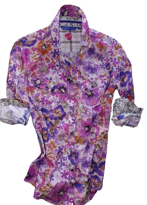 Lisa-B6024-705-Long-Sleeves-Liberty of London printed Womens Blouse
