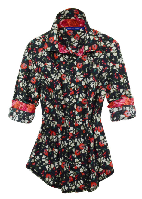 Lynette B22006-725 Long Sleeves Liberty of London Printed Blouse