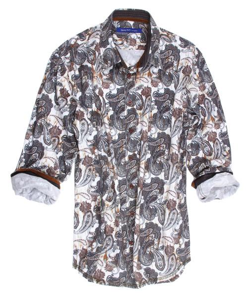 Adelaide-16004-023-Long-Sleeves printed Cotton Mens Shirt