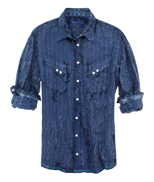 Irvine 18007W-005-Garment Dyed-Long-Sleeves-Men Shirt